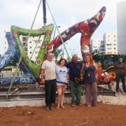 תהליך בניית פסל חוצות
